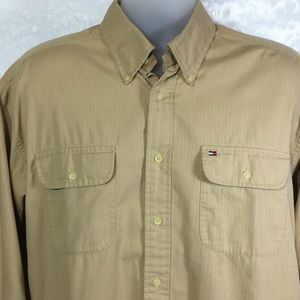 Tommy Hilfiger button down shirt. Size large.
